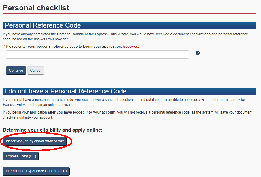 学生ビザ申請Personal Checklist